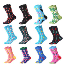 LETSBUY Colorful For Men Socks Harajuku Colorful Happy Funny Skull Egg Avocado Zebra Everyday Cotton Socks