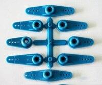 8 pçs/set 23 Dentes T JR Servo Balancim 30/36/42/58mm De Balanço Para FPV RC Acessórios de Peças de Motor Da Direcção Azul