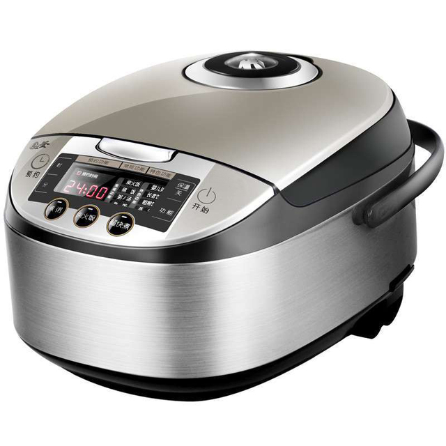 Black Electric Rice Cooker 220v 24 Hours Preset Non Stick Pot Portable