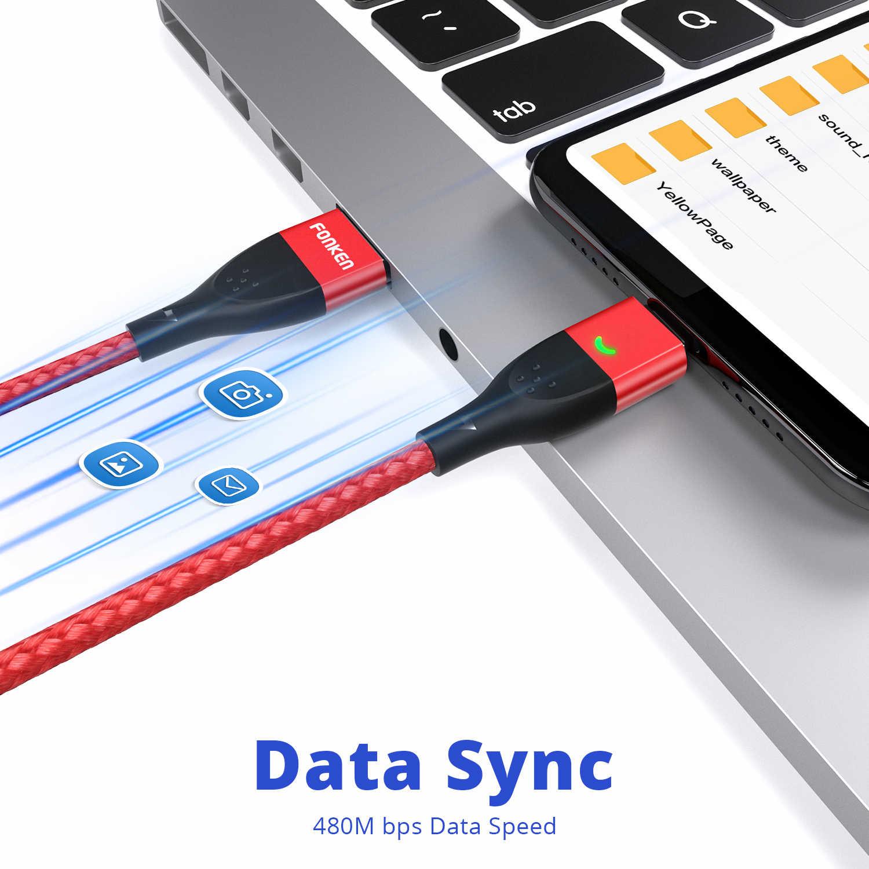 FONKEN מגנטי מיקרו USB כבל סוג C מגנטי מטען כבלי טלפון עבור iPhone סמסונג Huawei Xiaomi LG מהיר תשלום מהיר 1m 2m