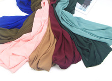 180*70 22 color Patchwork bubble chiffon Wrinkle shawls hijab summer drape stitching muslim Muffler scarves/scarf