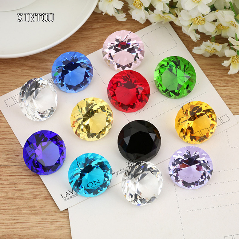 XINTOU Diamond-Ornaments Decoration Glass Gift Crystal Feng Shui Wedding-Festive Home-Art