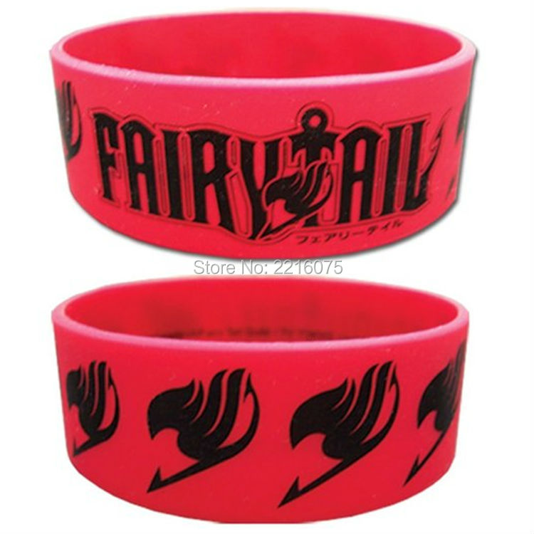 300pcs one inch Fairy Tail Men's Logo Anime silicone wristband rubber bracelets free shipping by DHL express
