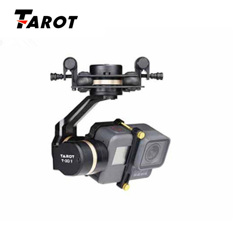High Quality Tarot TL3T05 for Gopro 3DIV Metal 3-Axis Brushless Gimbal PTZ for Gopro Hero 5 for FPV System Action Sport Camera fpv ptz gopro zenmuse h3 3d gimbal carbon fiber adapter plate mounting board for spreading wings s800 s1000 tarot t810