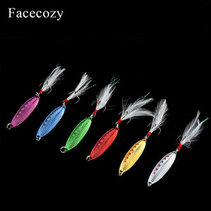 Image 3 - Facecozy Metal Bionic Leeches High Reflectivity Swimbait Dots Fish Scales Design 1Pc Tassel Tail Fishing Lures Artificial Bait
