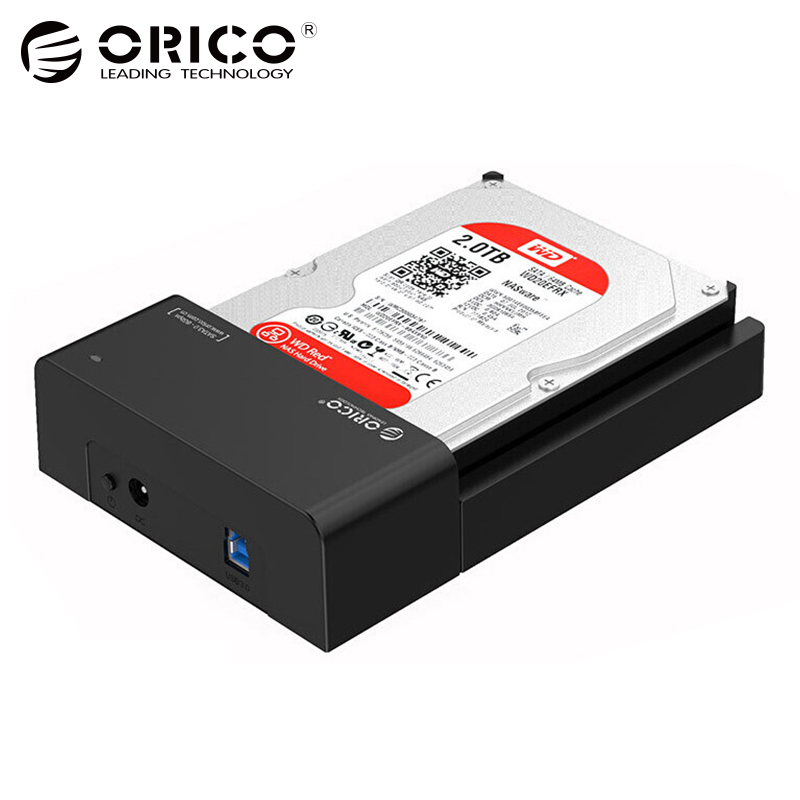 2.5 3.5 inch HDD SSD Docking Station USB3.0 to SATA External Hard Disk Drive Enclosure Support 8TB Drive Tool Free (6518US3) orico 8618sus3 usb3 0 to e sata external hdd hard drive ssd docking station for 2 5 3 5 inch sata hdd ssd support 8tb drive