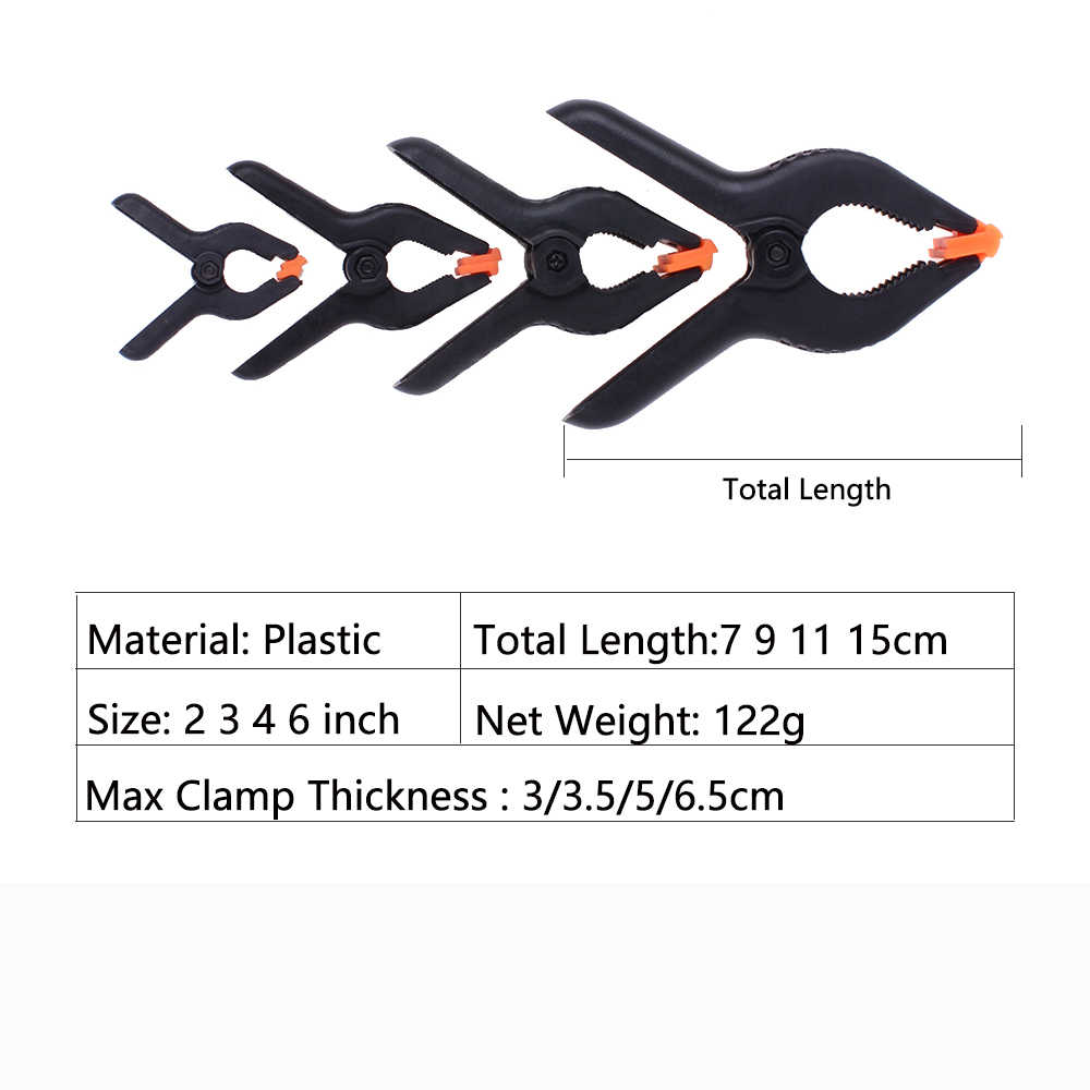 10Pcs Spring Clamps Wood Clamp 2 3 4 6 inch for Kreg Woodworking fits  Pocket Hole Jig Accessories Light-Weight Moveable Teeth