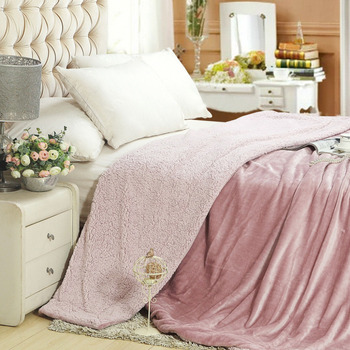 WLIARLEO Lambskin Blankets Warm Throws For Sofa Blanket High Quality Thicker Sofa/Bed Autumn blanket frazadas polar 150x200cm фото