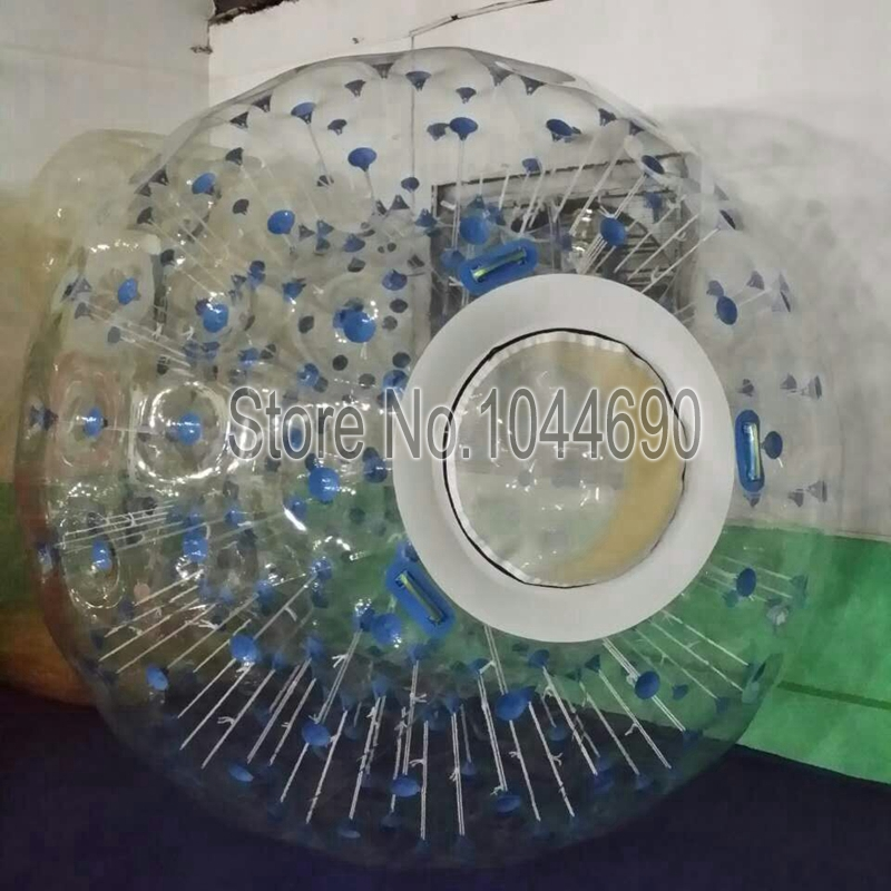 free shipping!!! blue dot zorb inflatable ball body zorb ball for adults