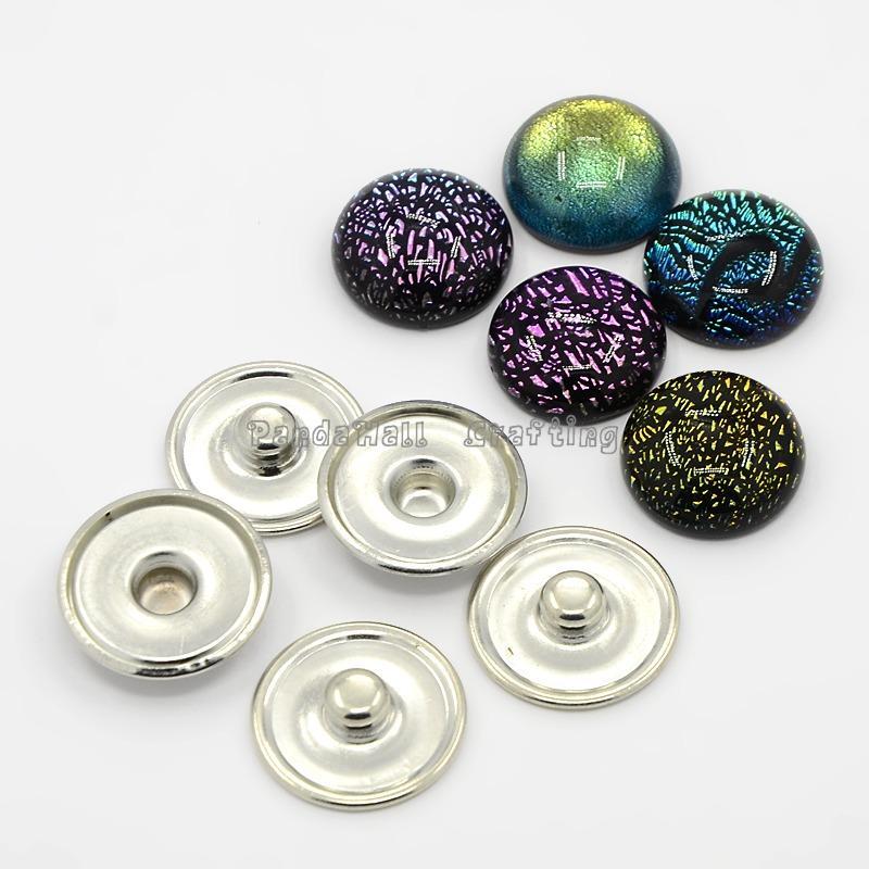 Dichroic Glass Buttons
