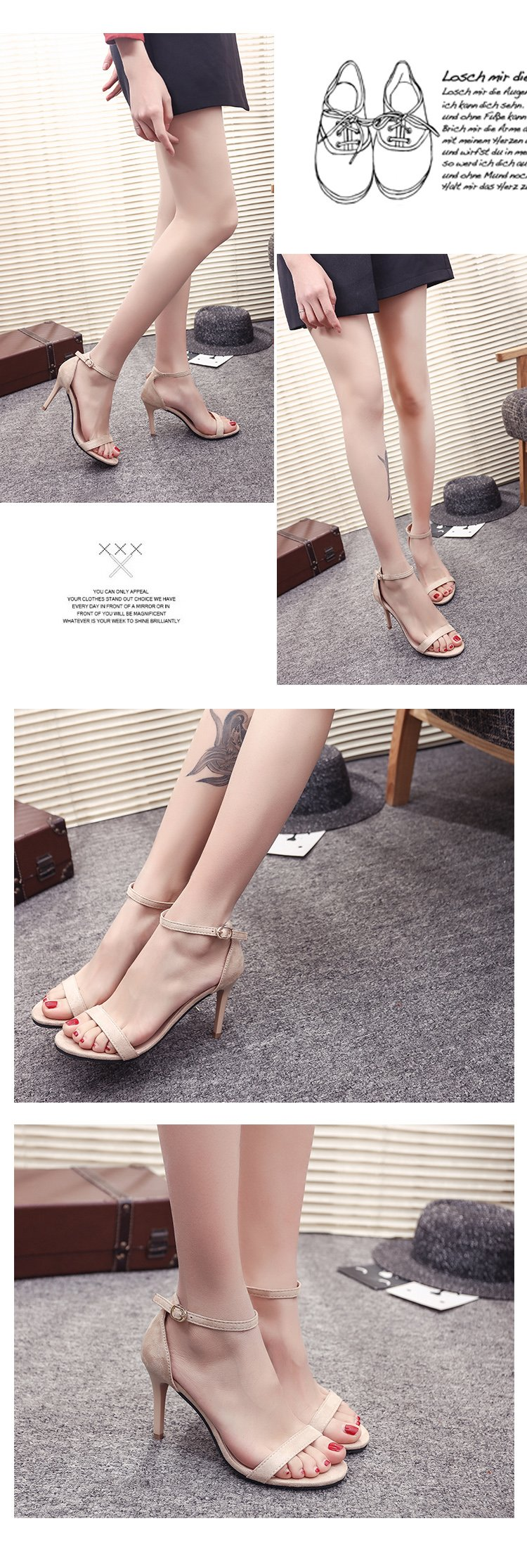 HTB1hHPpao rK1Rjy0Fcq6zEvVXav ORATEE Fashion Ankle Strap Women Casual Sandals Open Toe Summer High Heel Shoes Buckle Ladies Office Work Sandalias Shoes