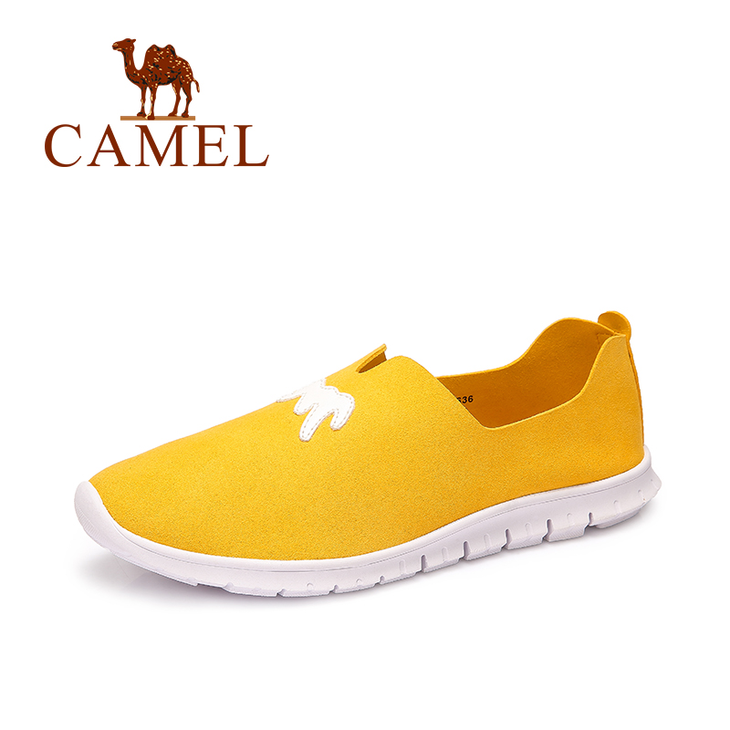 Camel Women's Shoes Simple Daily Casual Low-Heeled flat Round Head Loft Shoes Candy Color Breathable Lithe Anti-skid A63226636 free shipping candy color women garden shoes breathable women beach shoes hsa21