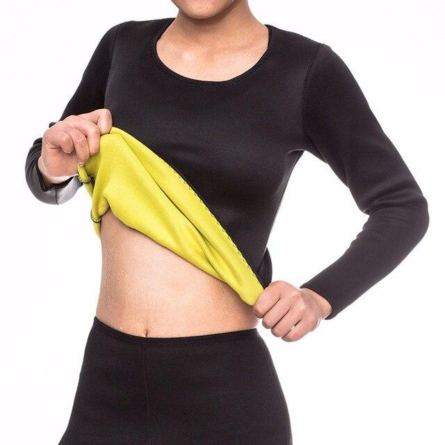 6e5a5ff456 Neoprene Long Sleeve Tops Slimming Vest Body Shaper Control Corset Tops  Shapers Waist Trainer Shirt Hot