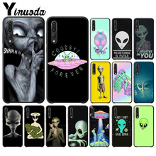 Yinuoda Alien Believe UFO ET cute Emoji TPU black Phone Cover for Huawei P10 plus 20 pro P20 lite mate9 10 lite honor 10 view10