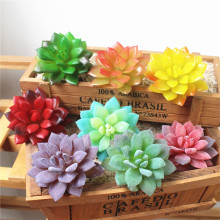 Frost Lotus Landscape Simulation Plant Home Office Flocking Fake Edelweiss Decoration 1PC Artificial Plants Succulent 29