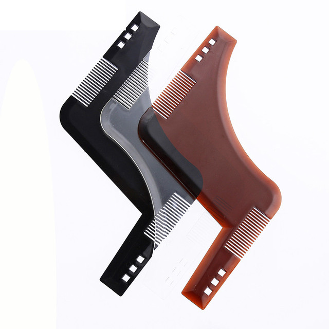Beard Styling Template Stencil  Beard Comb For Men Lightweight And Flexible  Fits All-In-One Tool Beard G0303