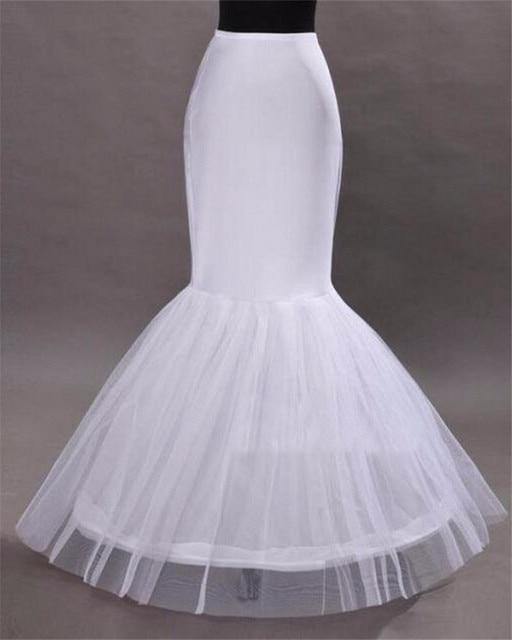 Venta caliente 2016 Nueva Sirena enaguas para el vestido de boda Blanco Nupcial enaguas de la Crinolina Para El vestido de Noche Vestidos de Baile En Stock