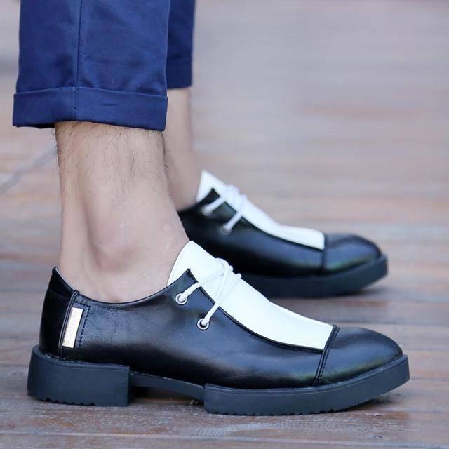 mocassin for men promotion top fasion creepers sapatos 2015 shark british  yuppie cowhide and boots shoes patent leather limited af283adfdb87