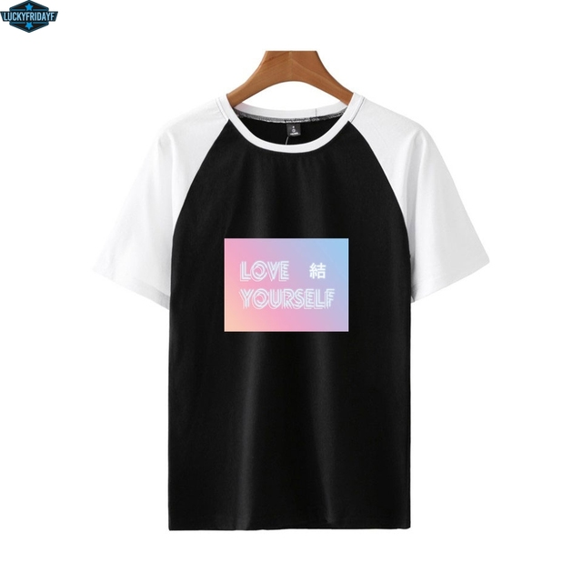 6f21bcc6520d BTS loveyourself color shirt men t shirt Fashion young t-shirt Short sleeve  men and women tshirt cool summer cool Plus Size tops