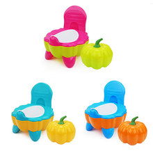 Portable Urinal Comfortable Backrest Pot Baby Potty Toilet Bowl Cute Pumpkin Cartoon Training Pan Toilet Seat Child Kids Bedpan(China)