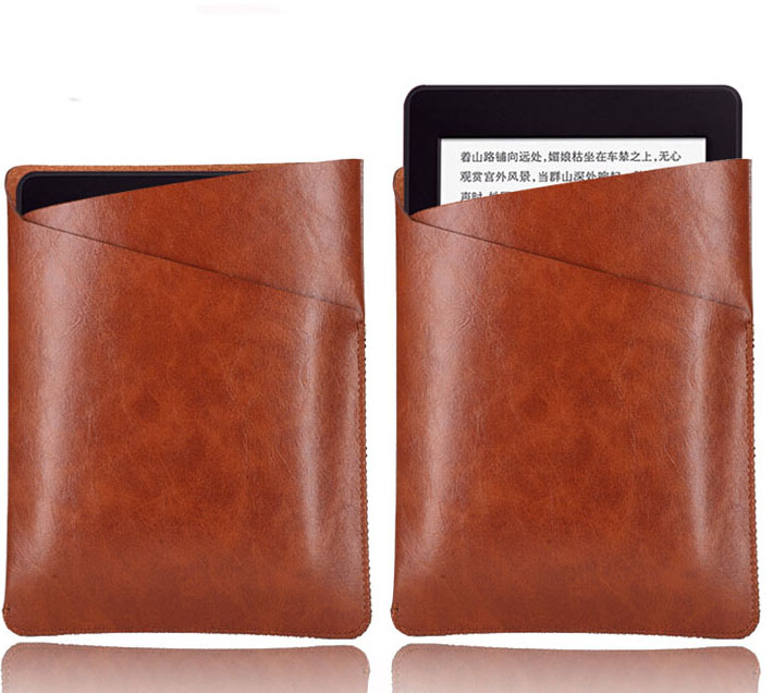 W443 Microfiber leather tablet sleeves e-book covers cases for kindle paperwhite 1 2 3 brown coffee Black