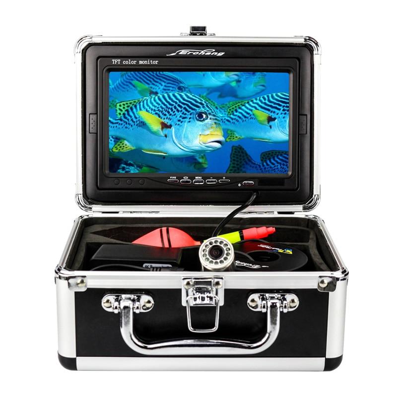 Erchang Fish Finder Underwater Fishing Camera 7 Inch 1000TVL Waterproof Video Underwater Camera 12 PCS Infrared