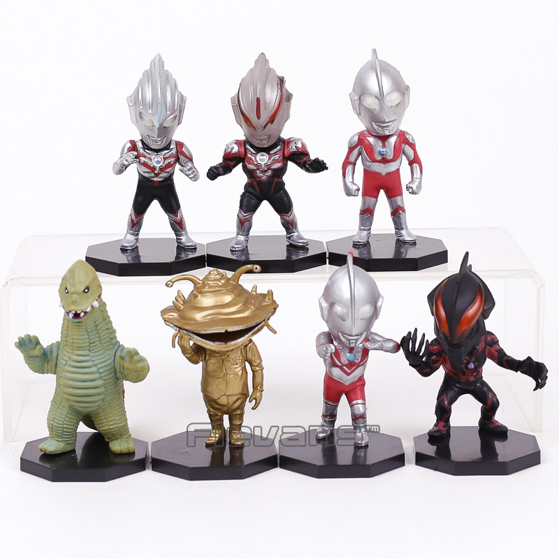 цены Ultraman Orb Zoffy with Monsters Q Version PVC Figures Toys Boys Christmas Birthday Gifts 7pcs/set 8cm