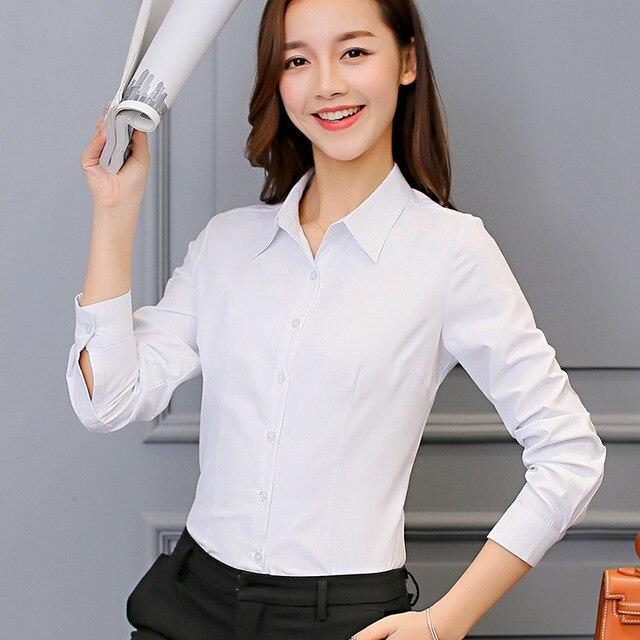 be7762615666 € 9.1 40% de DESCUENTO|Camisa blanca mujer ropa de manga larga blusa camisa  de seda coreana camisa Casual moda Rosa Top ropa femenina en Blusas y ...