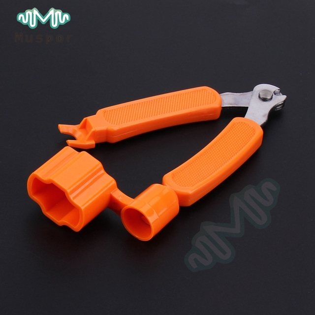 3 in 1 Guitar String Winder Cutter Bridge Pin Puller Acoustic Classic Electric Replace Luthier Tool Bass Banjo Mandolin