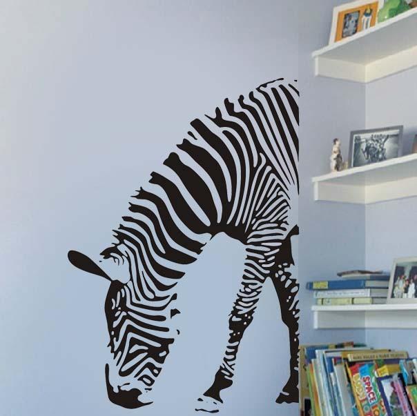 black animal zebra wall decals vinyl sticker home decor quote kids