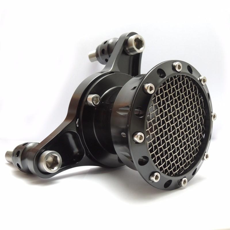For 1991-2014 Sportster 883 1200 & Big TwinTwin Cam 1993-2006 (CV Carburetors) Velocity Stack Air Cleaner Kit Black (7)