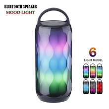Portable LED Colorful Wireless Bluetooth Speaker TF Card Handsfree Bass Stereo Speaker Sound System Music Surround Support TF