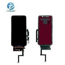 10 sztuk dla Iphone XR wyświetlacz lcd OEM z Digitixer wymiana montaż 45 ° kąt krawędzi czarny ekran dla iphone XR ekran dotykowy