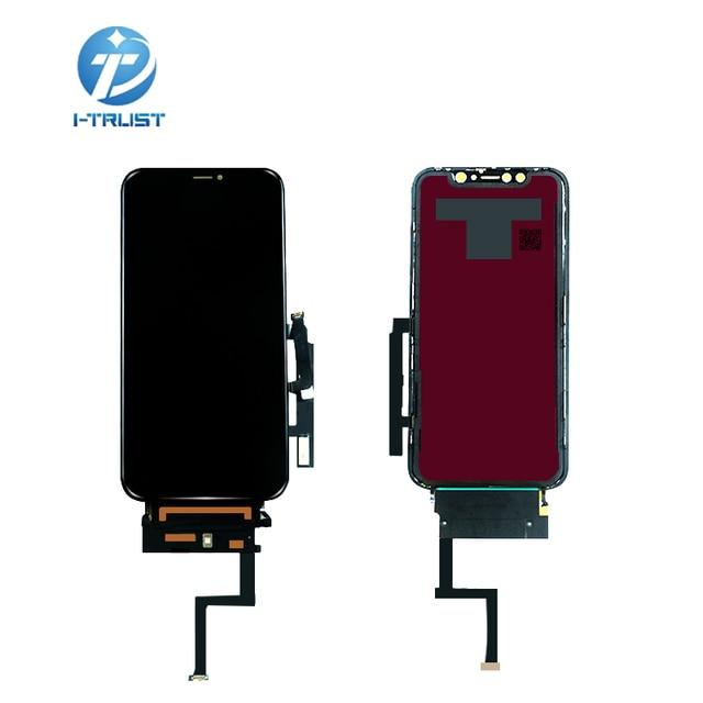 Digitixer で 10 個 iphone xr 液晶ディスプレイの oem 交換アセンブリ 45 ° エッジ角度黒 iphone xr タッチスクリーン