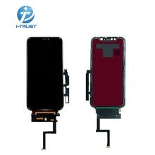 Pantalla lcd OEM para Iphone XR montaje de repuesto de Digitixer, ángulo de 45 °, pantalla táctil negra, 10 Uds.