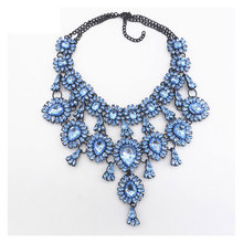 Fashion Multi-layer Flower Tassel Necklace Vintage Crystal Pendant Clavicle Chain Rhinestone Necklace for Women Wedding Jewelry цена