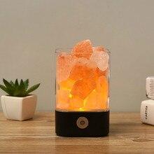 USB Crystal Light natural himalayan salt lamp Mood Creator led Air Purifier Indoor lava decor  table light bedsi
