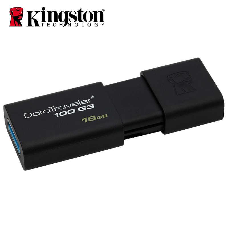 キングストンデータトラベラー USB フラッシュドライブ 64 ギガバイト 128 ギガバイトペンドライブ 8 ギガバイトの USB 3.0 高速 PenDrives 32 ギガバイトミニ人格 Usb スティック