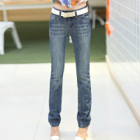 Korean Fashion New Women S Jeans All Match Leisure Thickening Denim Jeans Low Waist Straight Denim