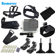 Action Camera Accessories Set Kit For Gopro Hero 5/6  Waterproof Case Head Chest Strap 5 Sports Cameras