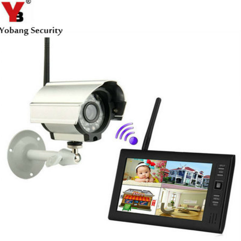 "bilder für YobangSecurity 7 ""TFT LCD DVR Monitore 2,4 GHz Digital Wireless 4CH CCTV DVR Überwachungskamera Überwachungssystem (1 Kameras kit)"