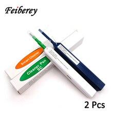 2 قطعة FTTH الألياف البصرية القلم أداة تنظيف تنظيف 2.5 مللي متر LC MU 1.25 مللي متر SC FC ST موصل أدوات تنظيف الألياف البصرية الذكية الأنظف