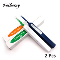 2pcs FTTH Optical Fiber Pen Cleaner Tool Cleaning 2.5mm LC MU 1.25mm SC FC ST Connector Fiber Optic Cleaning Tools Smart Cleaner