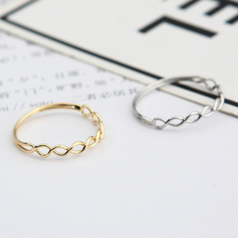 G073 New Minimalist Anel Fashion Jewelry Punk Hollow Cross Braid Ring Finger Ring for Women Wedding Engagement Anillos anelli