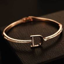 Luxury Big Brand Letter D Bracelet Rhinestone Party Wedding For Woman Gift Jewelry