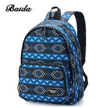 BAIDA Ladies Backpack Fashion Leisure Women Rucksack Bags Brand High Quality Satchel for College Girls High School Student Bag