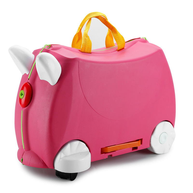 Fashion creative locker boy girl baby cars Toy box luggage suitcase Pull rod box Can sit to ride Check box children holiday giftFashion creative locker boy girl baby cars Toy box luggage suitcase Pull rod box Can sit to ride Check box children holiday gift