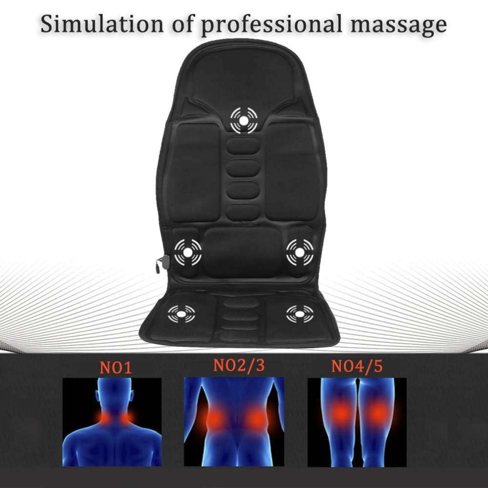 Professional Car Seat support Car Household Office Full Body Massage Cushion Lumbar Heat Vibration Neck Back Massage Cushion 2016 hot sale back massage chair heat seat cushion neck pain lumbar support pads car