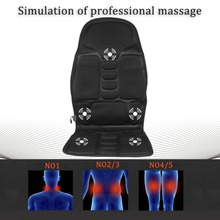 Professional Car Seat Support Household Office Full Body Massage Cushion Lumbar Heat Vibration Neck Back