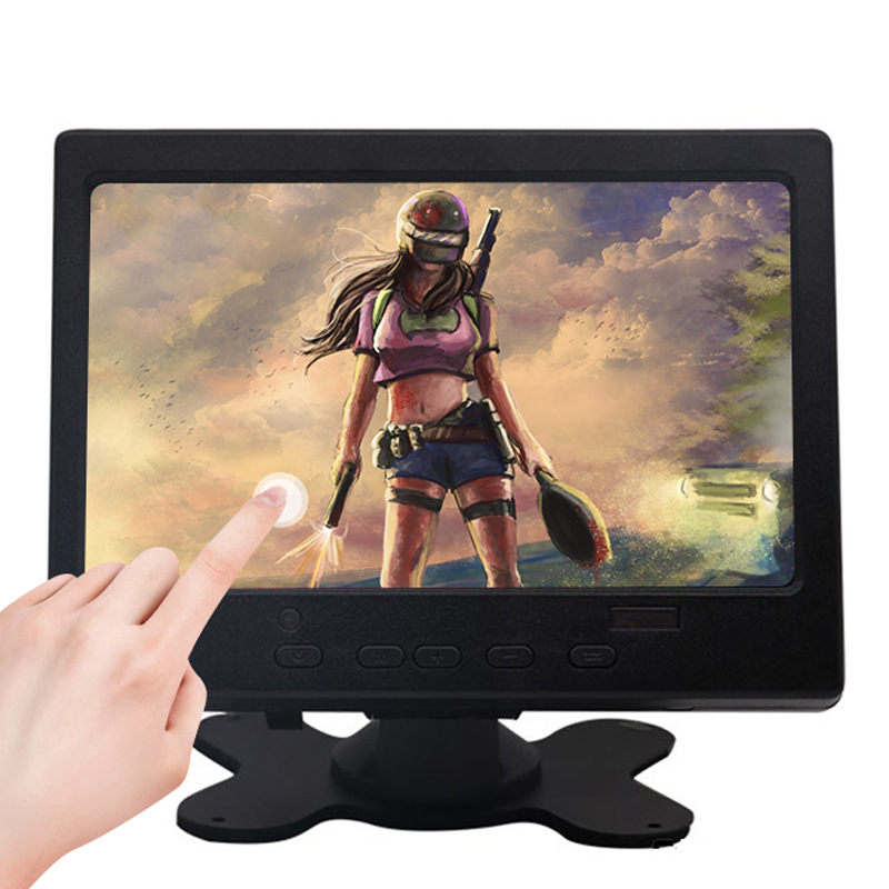 Monitor táctil LCD IPS de 7 pulgadas para Raspberry Pi, HDMI + VGA + AV, módulo de pantalla táctil capacitiva, marcha atrás de coche